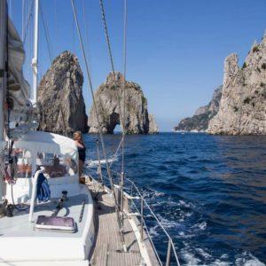 Capri in Barca a Vela